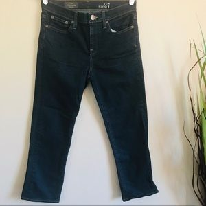 J. Crew Women's Vintage Cropped Navy Blue Jeans